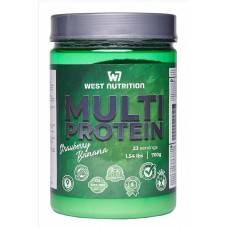 West Nutrition Multiprotein 700 g  (strawberry- banana)