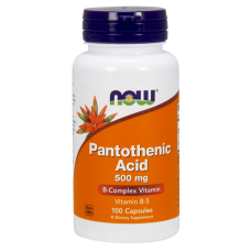 Now Pantothenic Acid 500 mg,100 vcaps