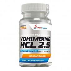 WestPharm Yohimbine HCL 60капс/2,5мг