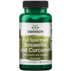 Swanson FULL SPEC BOSWELLIA & CURCUMIN 60CAP
