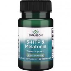 Swanson ULTRA 5-HTP & MELATONIN 30 VEG CAPS