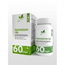 NaturalSupp Магний(400мг.) + витамин Б6(25мг.)60капс.