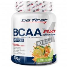 Аминокислоты Be First BCAA RXT 230 гр, цитрусовый микс