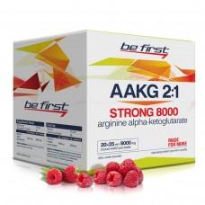 Аргинин альфа-кетоглутарат (ААКГ) жидкий Стронг Be First Arginine AKG Strong 8000 мг 20 ампул, малина