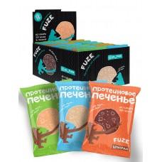 Печенье 'Fuze Cookies', арахис, кокос, шоколад, 16 шт по 40 г