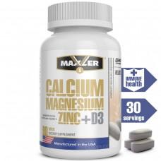 Витаминно-минеральный комплекс Maxler Calcium Magnesium Zinc+D3 (Кальций Магний Цинк + Витамин Д3), 90 таблеток