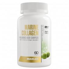 Maxler Marine Collagen + Hyaluronic Acid Complex - морской коллаген / гиалуроновая кислота / витамин С, 60 мягких капсул