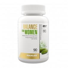 Витамины для женщин Maxler Balance for Women ( мультивитамины / витамины группы В / омега 3-6-9 / гиалуроновая кислота) - 90 гелевых капсул