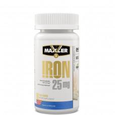 Легкодоступное железо Maxler Iron (Биглицинат Хелат) 25 мг, 90 капсул