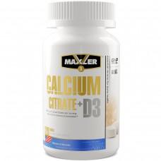 Maxler Calcium Citrate + Vitamin D3, (цитрат кальция + витамин Д3) 120 таблеток