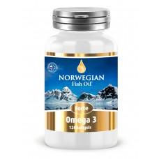 Norwegian Fish Oil Омега-3 Форте, 1384 мг, 120 капсул