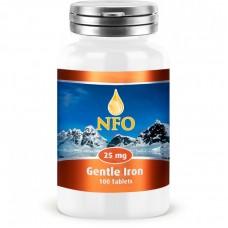 Железо NORWEGIAN Fish Oil Gentle Iron 25 мг 100 таб
