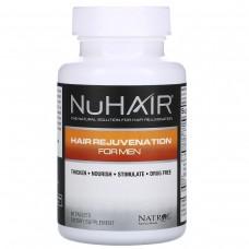 Natrol, NuHair, Витамины для восстановления волос для мужчин, 60 таблеток