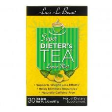 Natrol, Laci Le Beau, Травяной чай, лимон и мята, 30 чайных пакетиков, 75 г