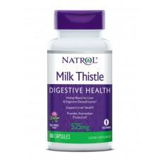 для восстановления печени Natrol Milk thistle 525мг, 60 капсул