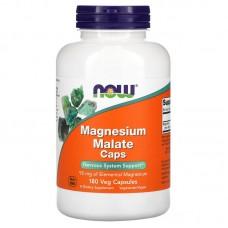 Now Foods,   Поддержка нервной системы, Magnesium Malate Caps, 180 капсул
