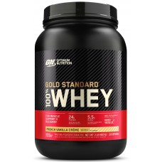 Optimum Nutrition 100 % Whey protein Gold standard, French Vanilla Creme 908 г