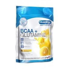 Аминокислоты Quamtrax Nutrition BCAA 2:1:1 + Glutamine Powder, апельсин, 500 г