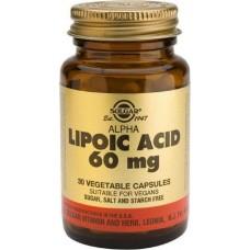 Solgar, Alpha Lipoic Acid 'Альфа-липоевая кислота', 60 мг, 30 капсул