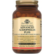 Solgar, Advanced Acidophilus Plus 'Улучшенный Ацидофилус Плюс', 60 капсул