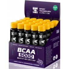 BCAA Sport Technology Nutrition '5000', лайм, имбирь, лимонграс, мята, 25 мл х 20 шт