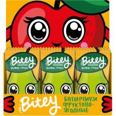 Детский фруктово-ягодный батончик Bitey 'Яблоко-Груша' (от 2-х лет, без сахара и глютена) 30шт по 25г