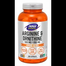 NOW Arginine Ornithine / 250капс